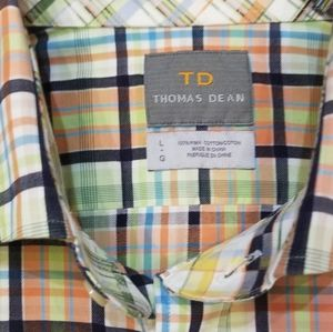 Thomas Dean Multicolored Checked SHIRT Size L